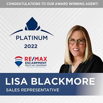 Lisa Blackmore - Platinum Award